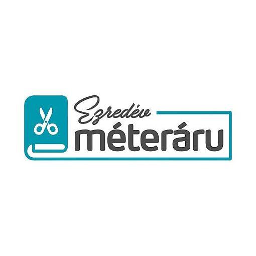 Viszkóz jersey kék/fehér apró mintás