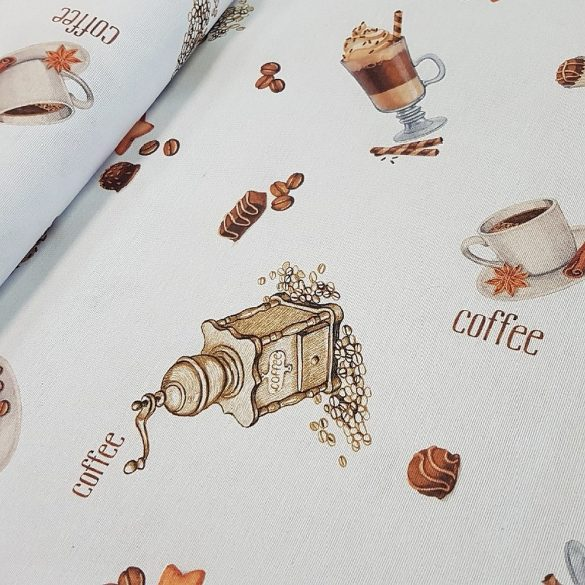 Latte, pohár, daráló