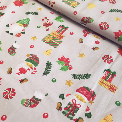 Mikimanós karácsonyi pamutvászon