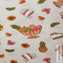 Loneta  lakástextil vászon gyümölcstálas