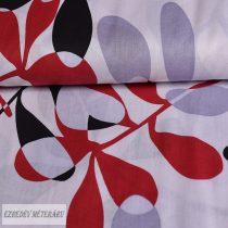Fekete/fehér/piros leveles