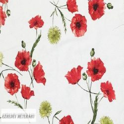 Loneta pipacsos lakástextil vászon
