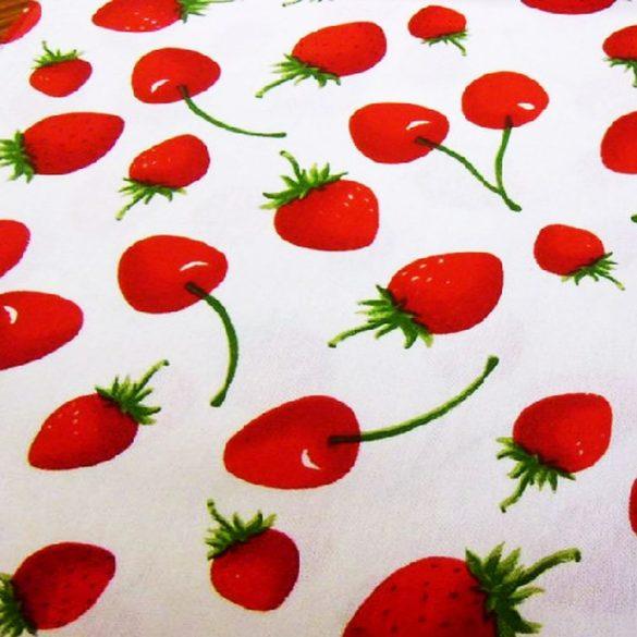 Vászon cseh vastag epres, cseresznyés